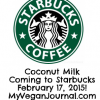coconut milk starbucks
