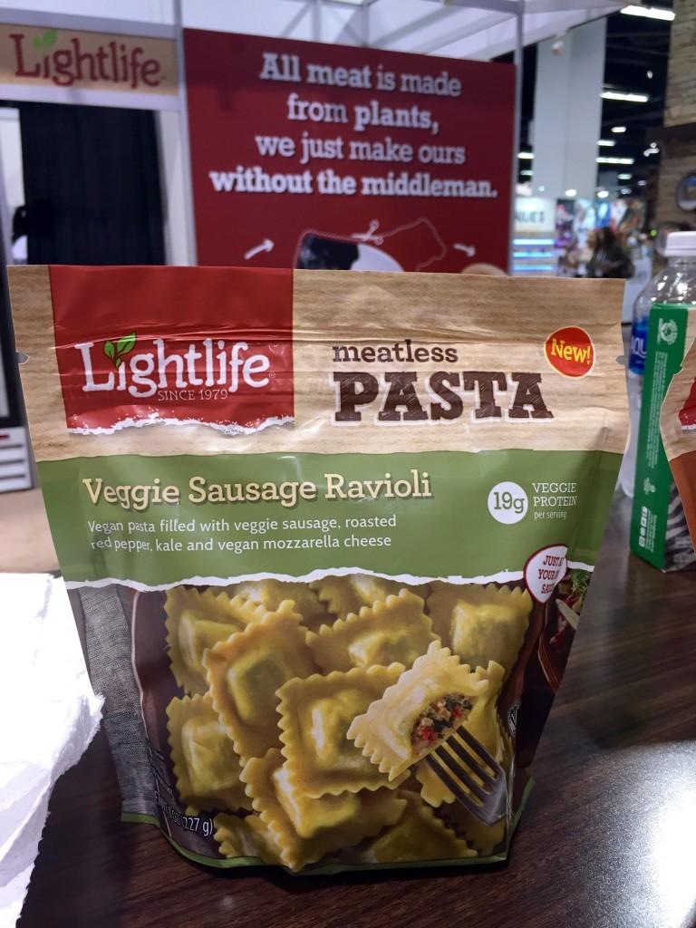 veggie sausage ravioli