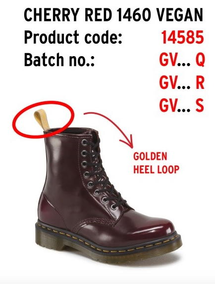 vegan shoe recall